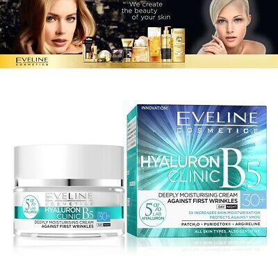 Eveline Cosmetics Hyaluron Clinic 30+ Day And Night Anti Wrinkle Face Cream 50ml