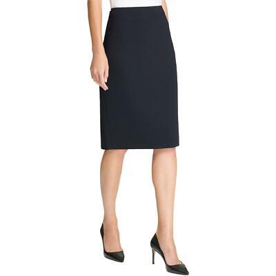 DKNY Womens Solid Long Workwear Pencil Skirt BHFO 5876