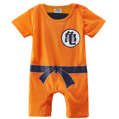 Baby Boys Dragon Ball Z Romper Newborn Goku Costume Infant Playsuit Party Outfit](Costume Goku)