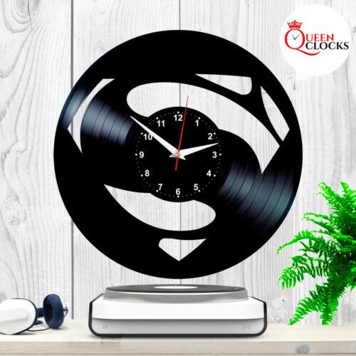 Superman Justice League Logo DC Comics Vinyl Record Wall Clock Gift Home Decor