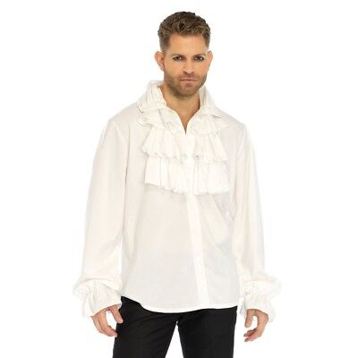 White Ruffled Puffy Shirt Jerry Seinfeld Beauty And The Beast Costume - Jerry Costume