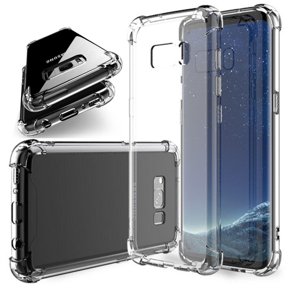 shockproof clear tpu bumper case fits galaxy