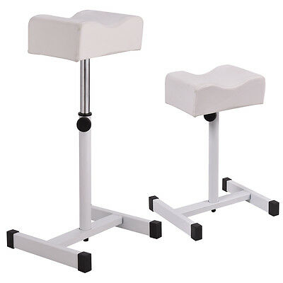 White Adjustable Pedicure Manicure Technician Nail Footrest Salon Spa Equipment