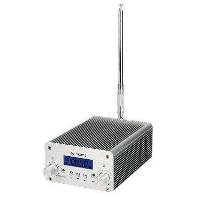 Retekess 6W FM Transmitter Stereo Station Antenna for Wireless Meeting/Church US Stereo Fm Wireless Transmitter