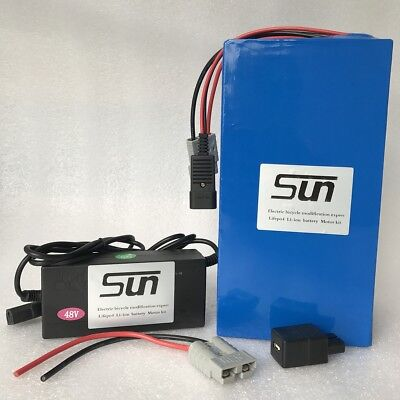 48V15AH LiFePO4 Batteries 3A Charger BMS Rechargeable Stirring Bike Solar Energy