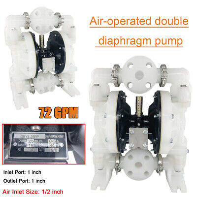 Double Diaphragm Pump Air-operated 1inch Inlet Outlet 72gpm Petroleum Fluids