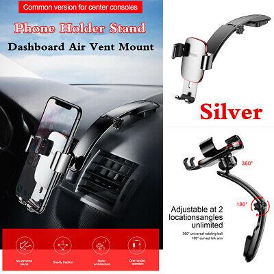 1Pcs Car Dashboard Air Vent Mount Long Link Arm Gravity Metal Phone Holder -