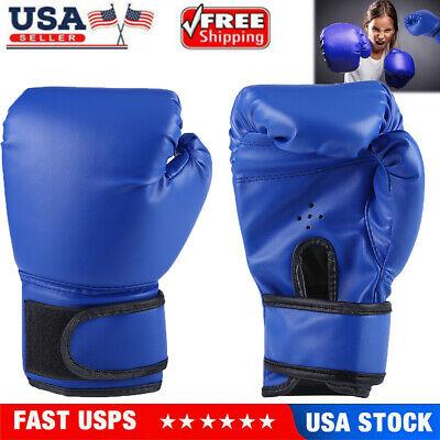 4oz Kids Boxing Gloves Children Cartoon MMA Sparring Training PU Gloves 3-12 Age