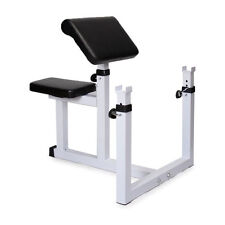 Weight Seated Preacher Curl Bench Isolated Arms Barbell Dumbbell Bicep Home Gym