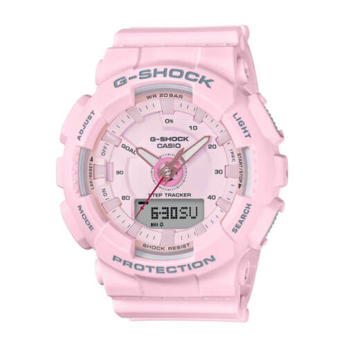 Casio Women's Analog-Digital Step Tracker Watch 50mm - Pink