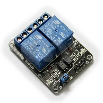 2 Channel 24v Relay Shield Module Board Optocoupler Module For Arduino Arm Avr