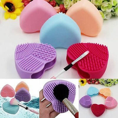 - Silicone Makeup Brush Cleaner Pad Washing Scrubber Board Cleaning Mat Hand Tool