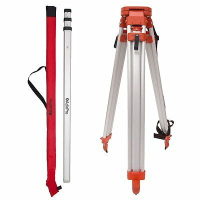 Aluminum Tripod & 9' Rod (10th) Package Construction, Auto Level Transit, (Laser Pole)