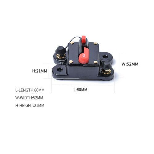 50A-300Amp 12V 24V Car Audio Circuit Breaker Auto Blow Trip Fuse Reset Switch US