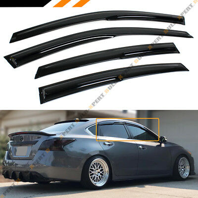 FOR 2013-2015 NISSAN ALTIMA SEDAN JDM 3D WAVY WINDOW VISOR RAIN GUARD DEFLECTOR