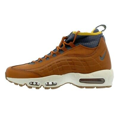 Nike Air Max 95 Sneakerboot Dark Russet/Thunder Blue/Yellow UK Size 6 806809 204