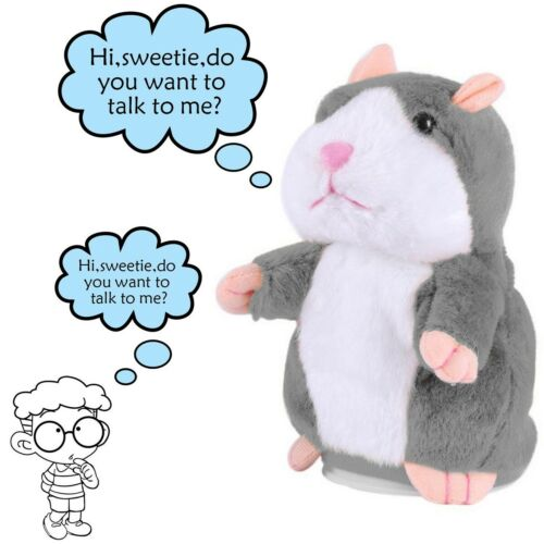 Talking Hamster Plush Toy Repeat What You Say Interactive Kids Early Learning Baby
