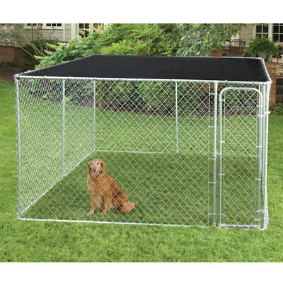 Cover Shade Cage Shelter Outdoor Pen Black Dog House Kennel Pet Grommets 10x10ft