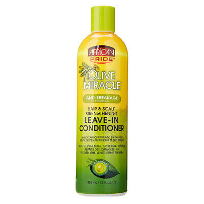 [AFRICAN PRIDE] OLIVE MIRACLE ANTI-BREAKAGE FORMULA LEAVE-IN CONDITIONER 12OZ Breakage Miracle Leave