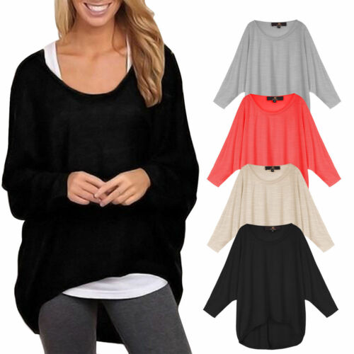 Damen Sweatshirt Pulli Pullover Cardigans Sweater Strickjacke Oversize Tops