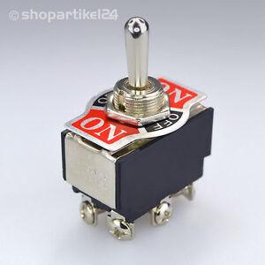 KIPPSCHALTER - ON/OFF/ON - Schalter Einbauschalter 250V 2 polig Umschalter(S7)