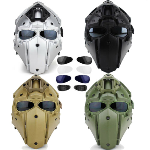 Helmet Airsoft Paintball CF CS Game Full Face Mask Tactical Protective New