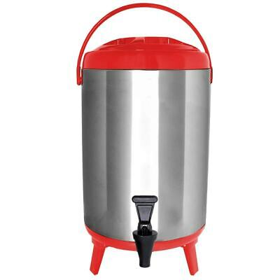 Vollum Stainless Steel Insulated Hot And Cold Beverage Dispenser - 8 Liter Red
