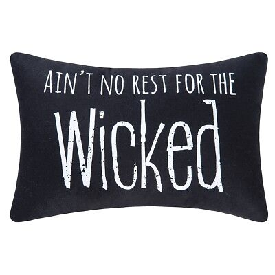 Ain't No Rest For The Wicked Halloween Rectangular Word Pillow (Word For Halloween)