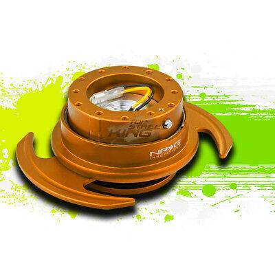 NRG CAR/UTV STEERING WHEEL LOCK QUICK RELEASE ADAPTOR GEN 3.0 ROSEGOLD+RING
