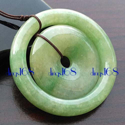 Certified 100% Natural A Jadeite Green press-stud Pendant Women
