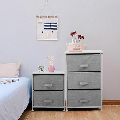 Dresser Storage Organizer Tower Chest w/ Removable Fabric Drawer Home Furniture