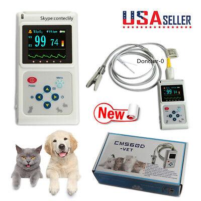 Us Seller Animal Veterinary Pulse Oximeter Cms60d-vettongue Spo2 Probe Software