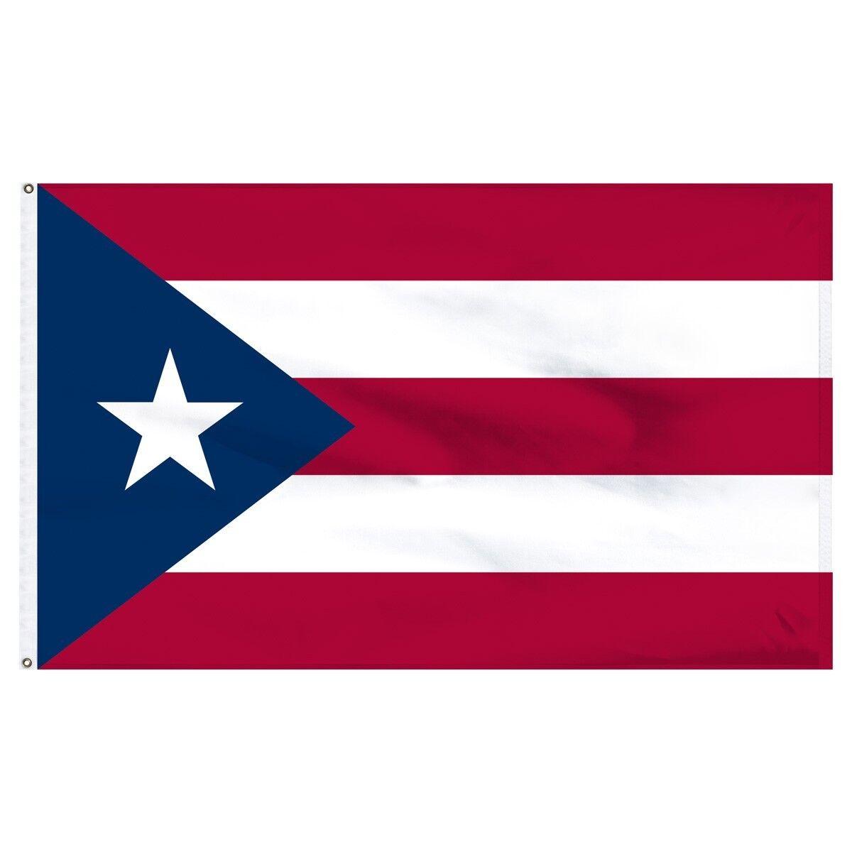 3x5 Puerto Rico Polyester Flag Premium Banner Grommets FAST