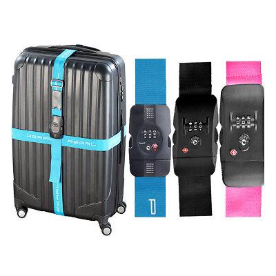 Kofferband Gepäckgurte TSA-zertifizierter Kreuz-Koffergurt mit Zahlenschloss (Tsa Gepäckgurt)