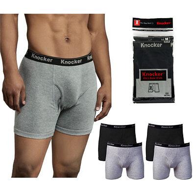 6 Pack Mens Boxer Briefs 100% Cotton Black Gray Underwear Lot S M L XL XXL XXXL - Gray Boxer Briefs