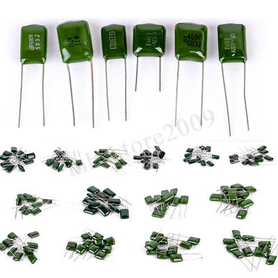 140pcs 14 Values 630v Polyester Film Capacitor Electrolytic Assortment Kit