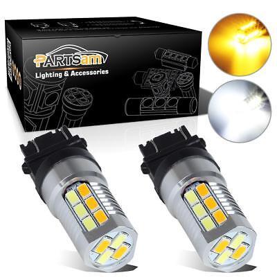 Switchback 3157 3357 3457 Amber/White 22 LED High Power Turn Signal Light Bulb