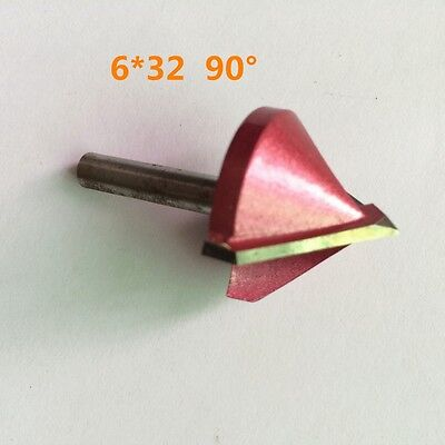 632m 6mmx32mm 90 Degree Router Cnc Engraving V Groove Bit