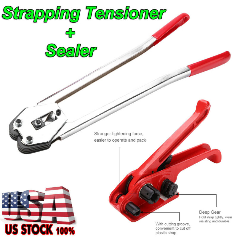 PET/PP Manual Strapping Tools Packing Machine Set Tensioner & Sealer Heavy Duty