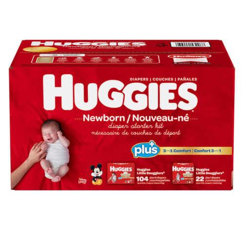 Huggies Plus Newborn Diaper Starter Kit (Newborn + Size 1)
