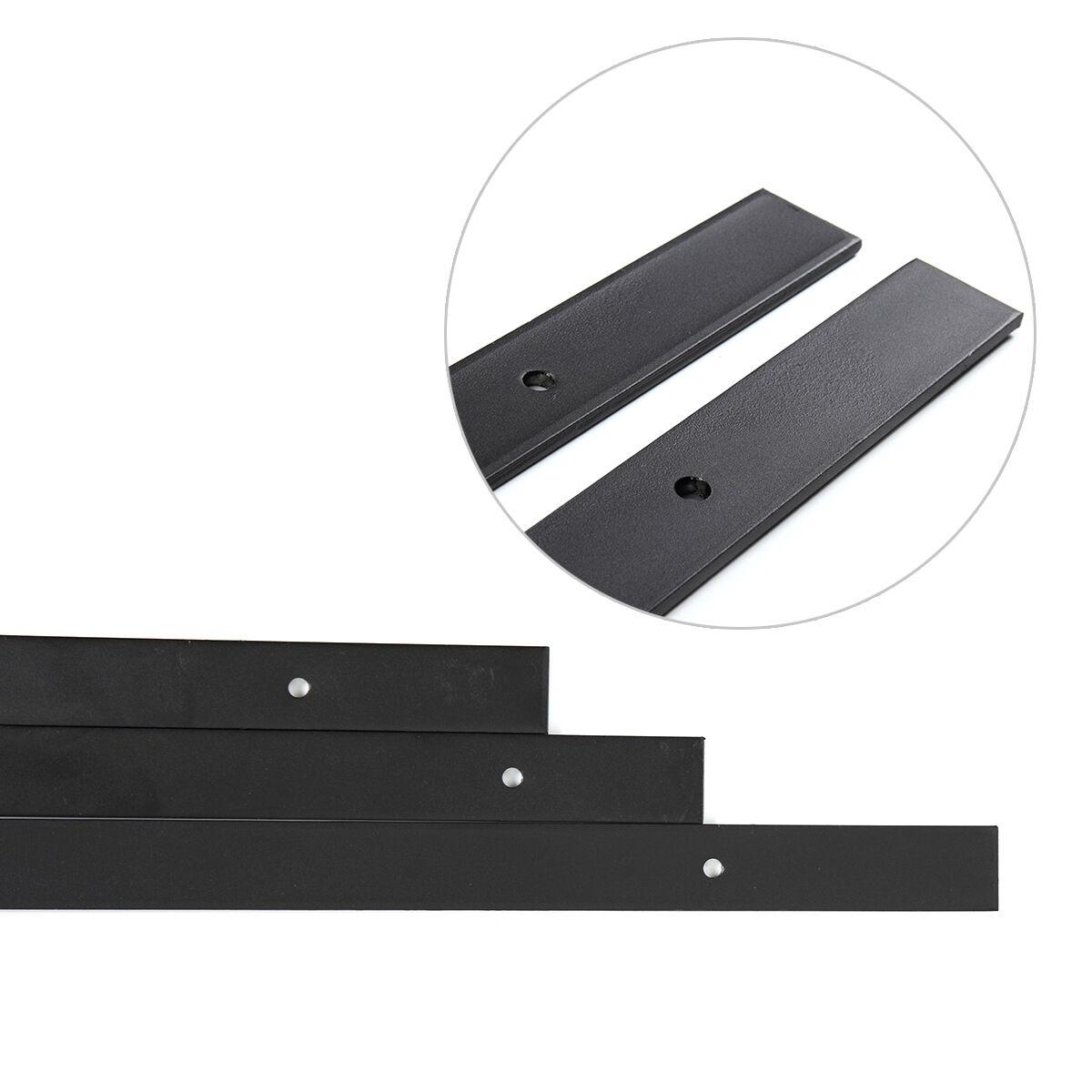 6FT Black Carbon Steel Sliding Barn Door Hardware Track Rail Kit Wall Mount Flat