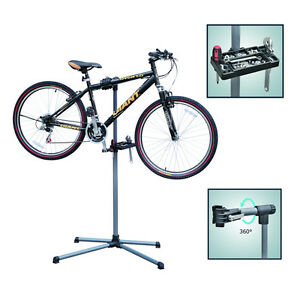PRO HOME MECHANIC FOLDING BIKE BICYCLE CYCLE REPAIR WORK STAND RACK ADJUSTABLE