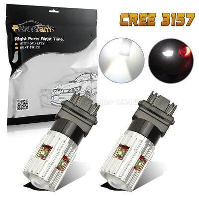 2x Xenon HID WHITE 3156 3157 CREE R3 High Power LED Chips Reverse Backup Lights