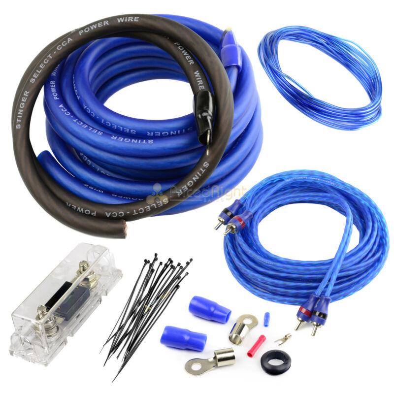 True 0 Gauge Amplifier Wiring Kit 1500W Watt Amp Car Audio Stinger Select 1500