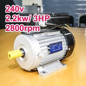 Air-Compressor-motor-single-phase-240v-2-2kw-3HP-2800pm-shaft-24mm