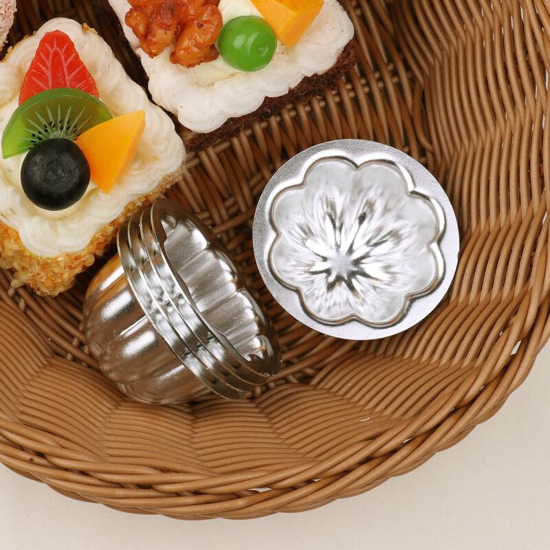 30pcs Aluminum Alloy Egg Tart Molds Candy Cake Muffin Baking Cup Tartlets Pans