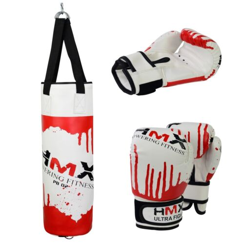 Heavy Bag Set VELO Kids Punch Bag with 6 ounce Boxing Gloves for Youth Boxing Training Grappling Kickboxing Punching MMA Muay Thai Martial Arts Junior