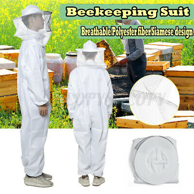 6 Ft Xl Beekeeper Suit Bee Keeping Full Body Hooded Beekeeping Safe Veil Hat
