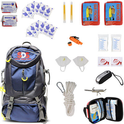 SDS | Survival Backpack Emergency Prep Supply Gear Bag Food Kit 2 Person 72 Hour