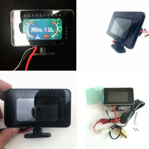 2in1 Car LCD Digital Display Voltmeter Thermometer Water Temp Temperature Guage
